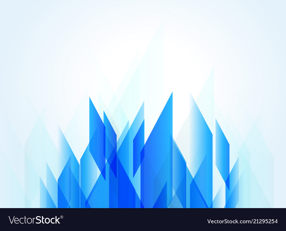Blue Background With Abstract Geometric Shape