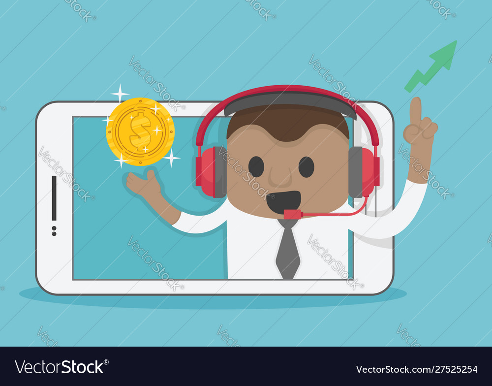 Business people are successful playing stock