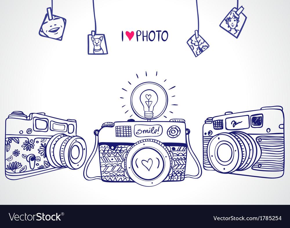 Camera silhouette vector image