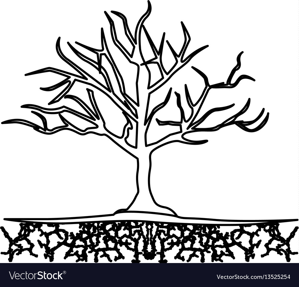 Figure tree without leaves icon