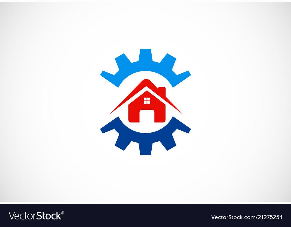 Gear house work logo
