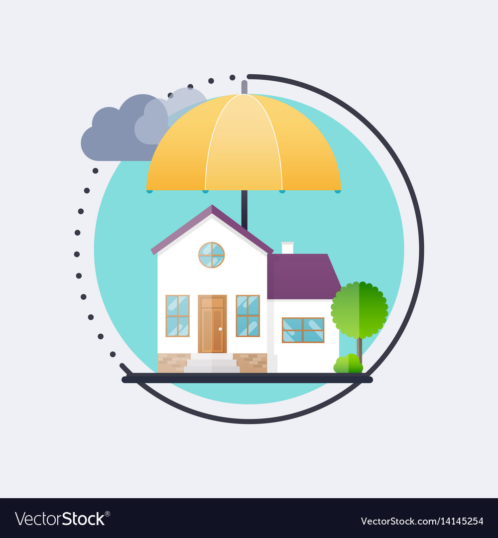 House insurance business service icons template