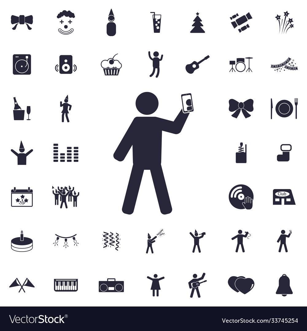 Man taking photo icon