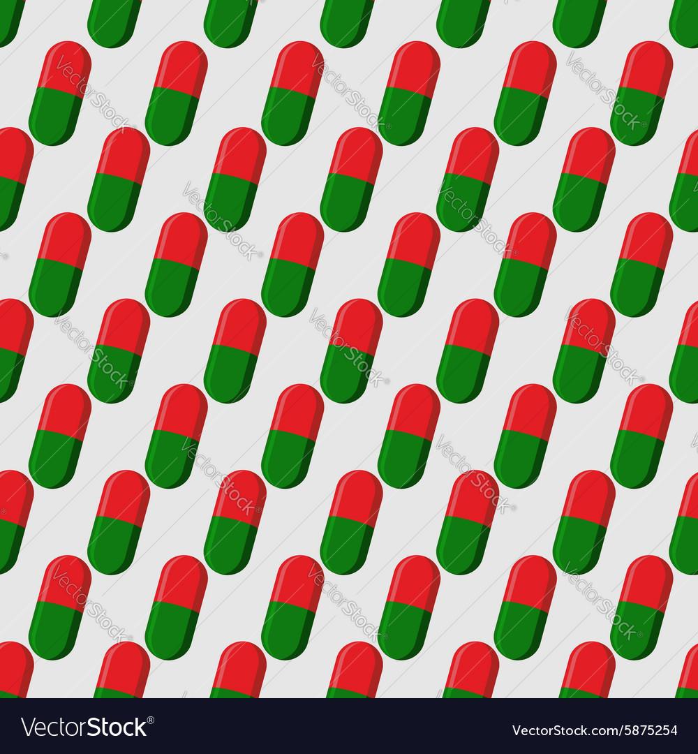 Pills seamless pattern Medicines background Tablet