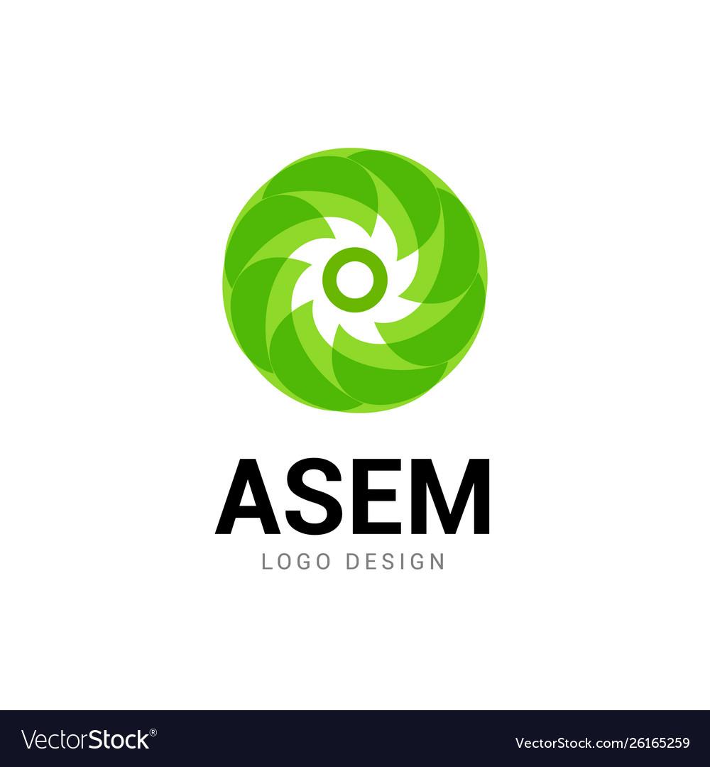 Abstract logo circle icon technology logo design