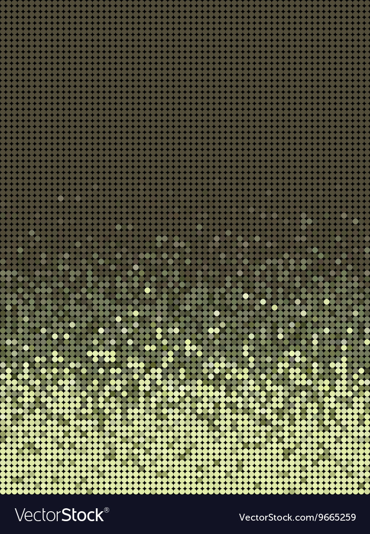 Bubble gradient pattern in green brown and yellow