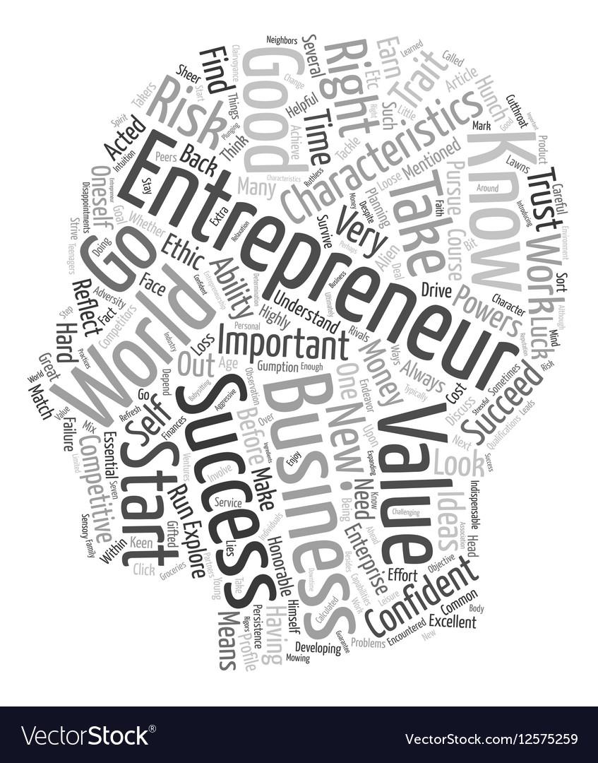 Characteristics of entrepreneur 1 text background