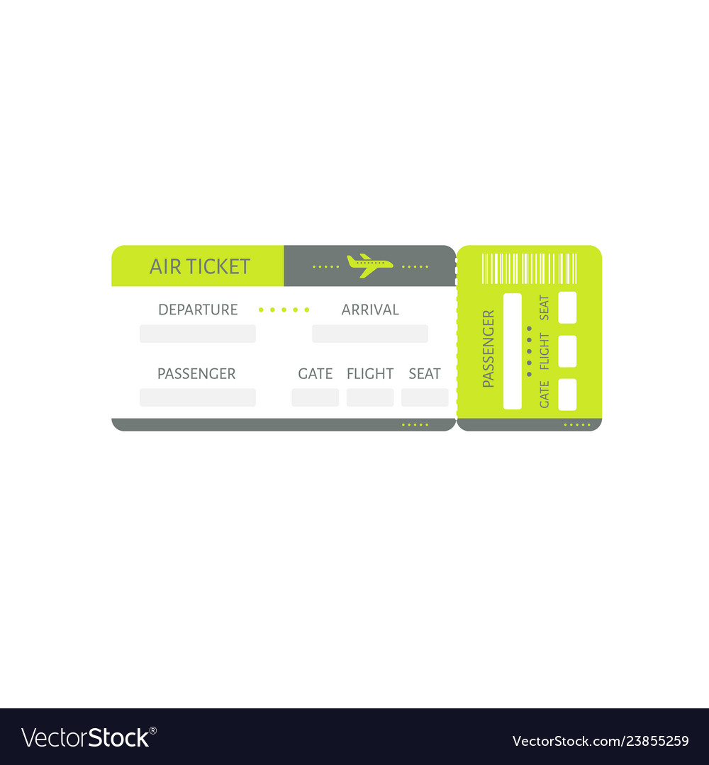 Green plane ticket icon travel tourism