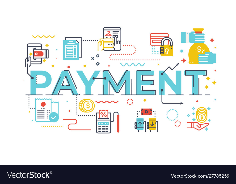 Payment word lettering