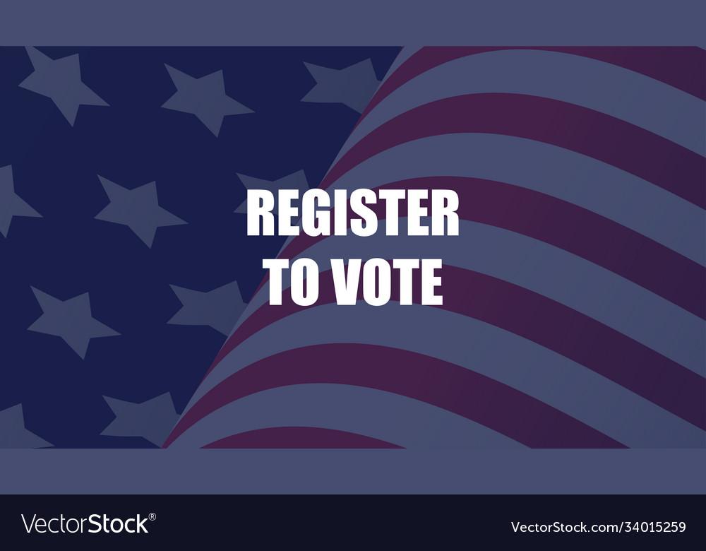Register to vote poster design
