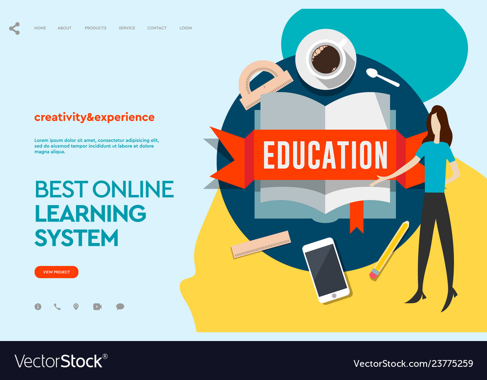 Web page design templates for e-learning online