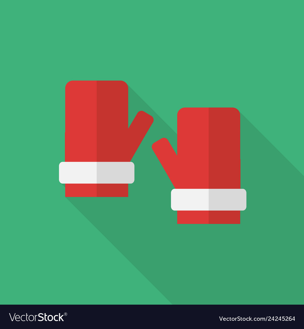 Christmas gloves icon set of great flat icons