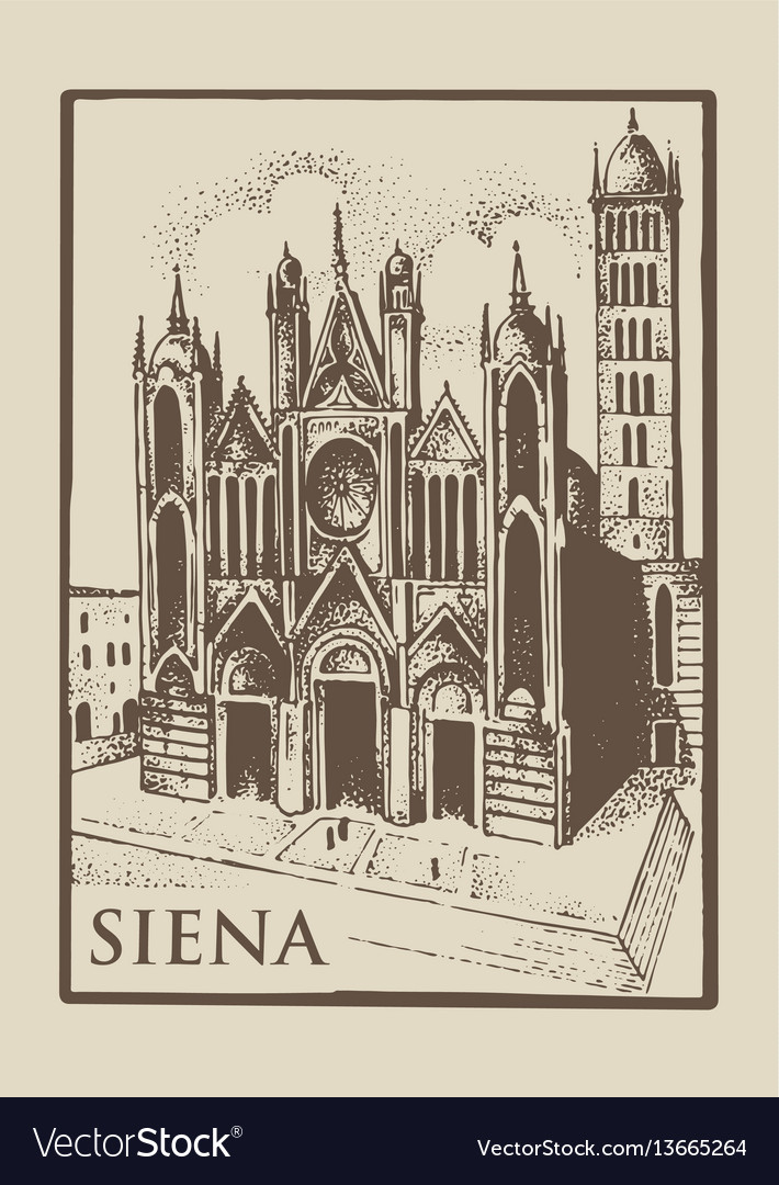 Gotical church in siena tuskany italy old