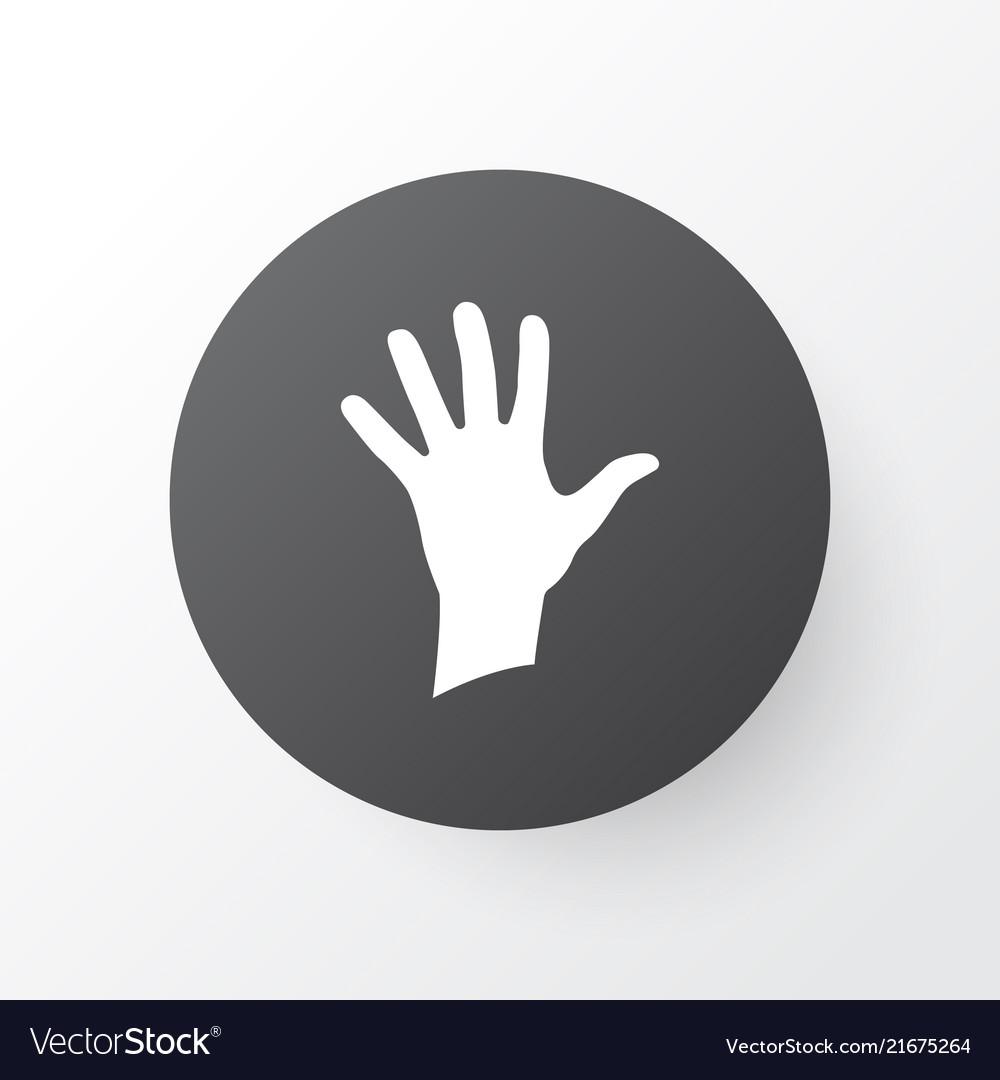 Palm Icon Symbol Premium Quality Isolated Hand Vector Image