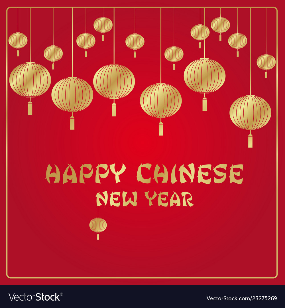 Chinese new year red and gold background