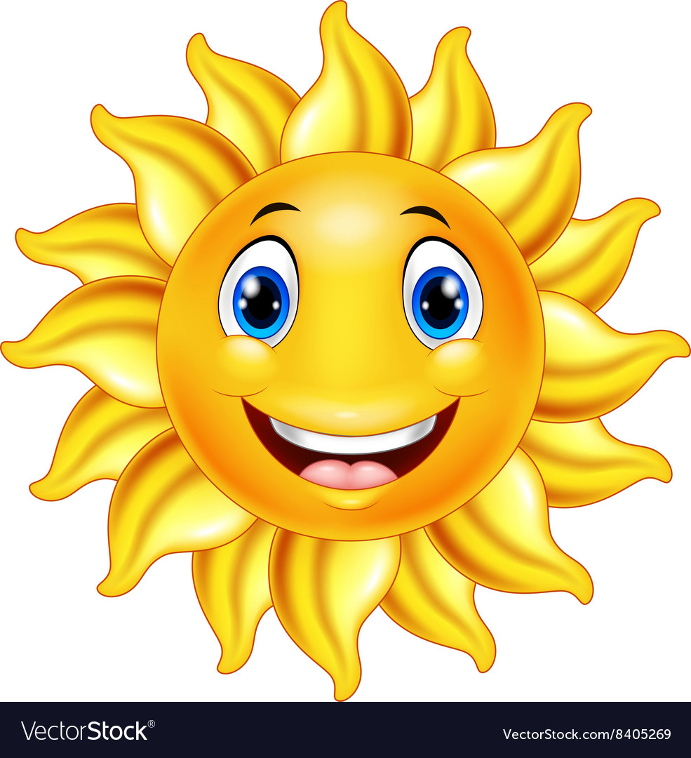 Cute Smiling Sun Cartoon Royalty Free Vector Image