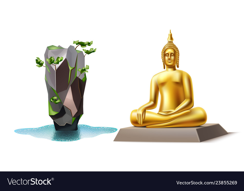 Golden buddha bond island thailand landmark