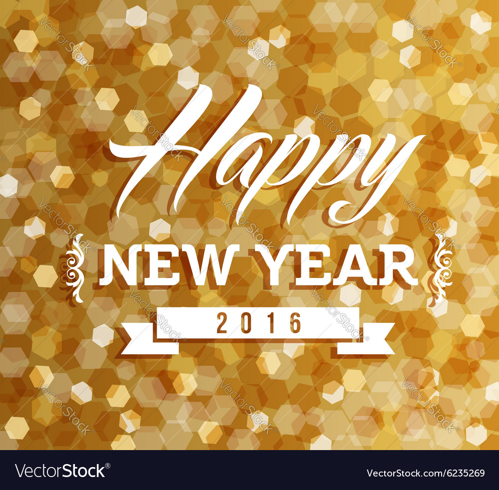 Happy new year 2016 blur lights background vector