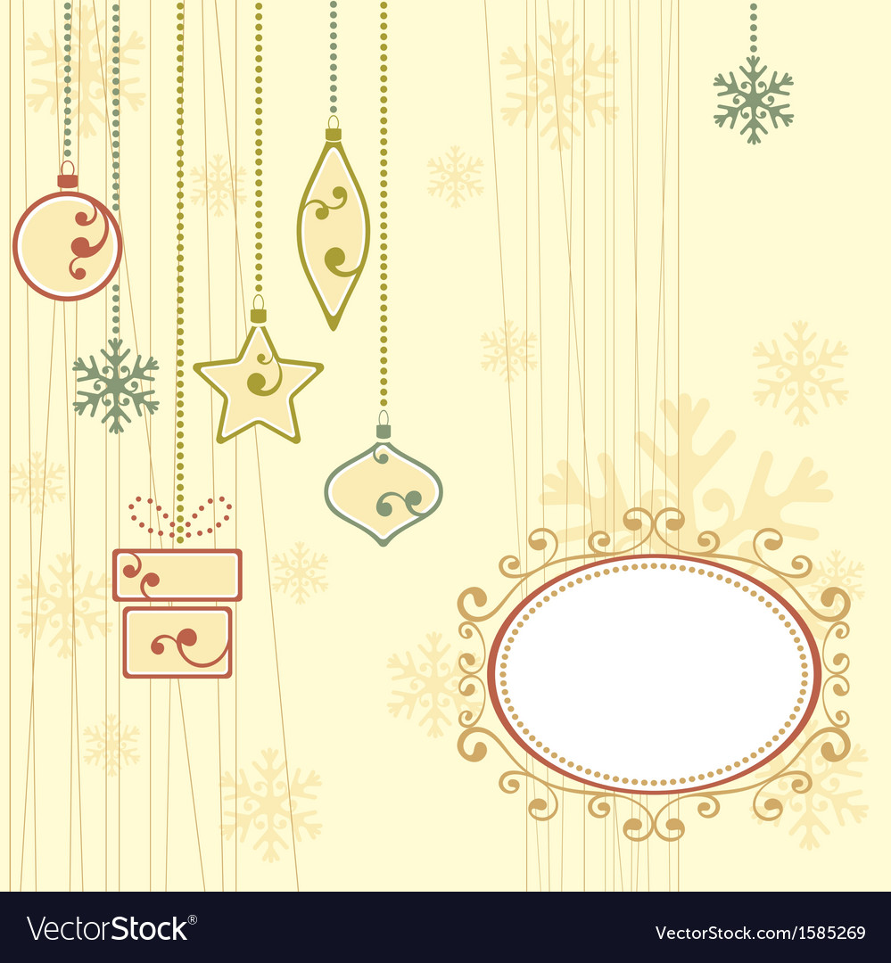 Winter background with christmas ornaments