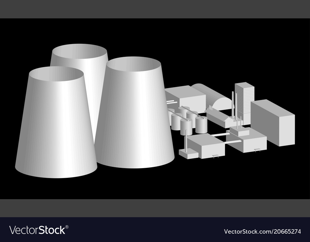 3d model factory layout power station