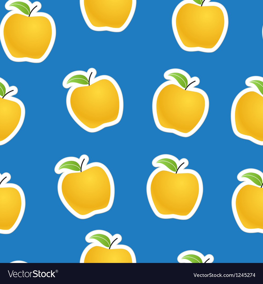Apples seamless background vector image