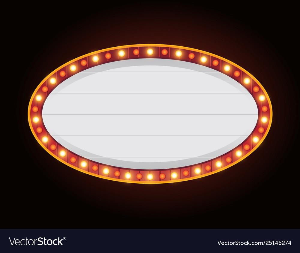 Brightly casino glowing retro casino letters neon