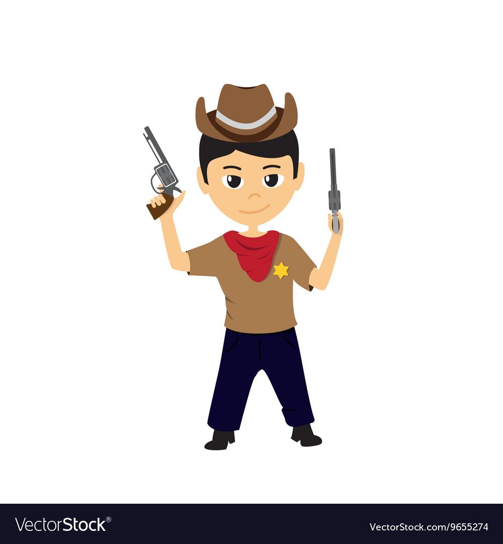 Cartoon of a little cowboy