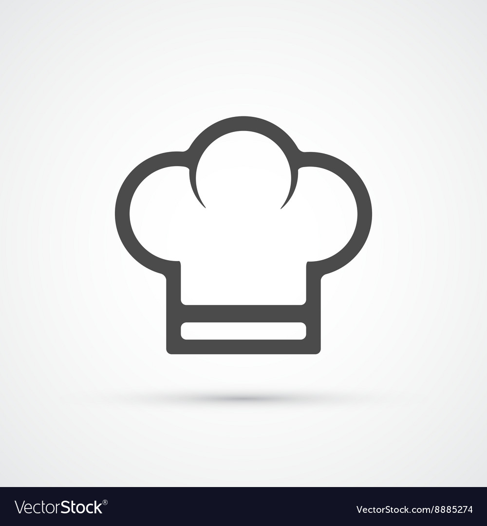 Chef cook cap trendy icon Royalty Free Vector Image ad7c9f256563
