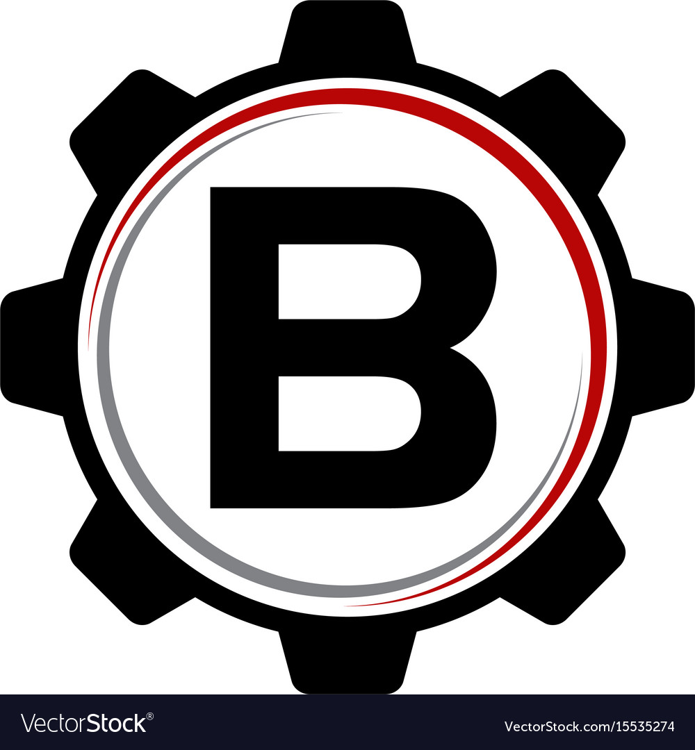 Gear solution logo letter b