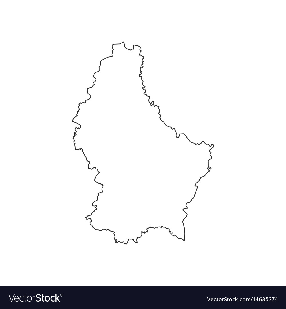 Luxembourg map silhouette vector image