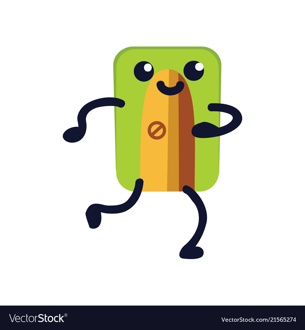Pencil sharpener flat icon funny green school
