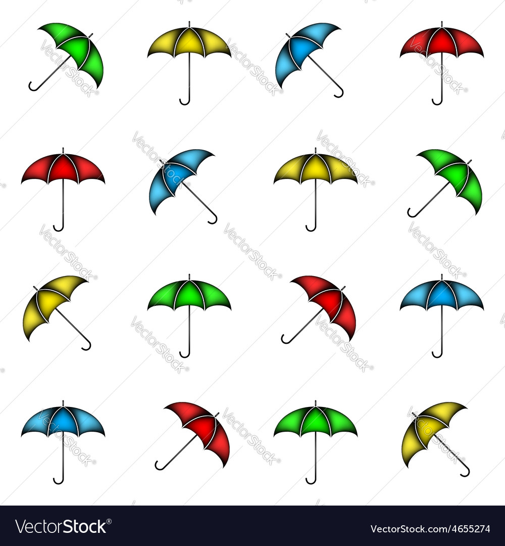 Seamless pattern of colorful umbrellas background