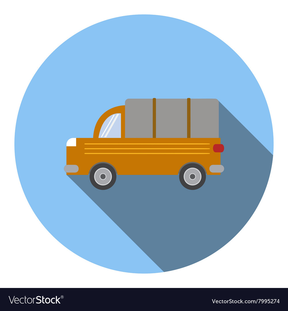Truck car icon flat style