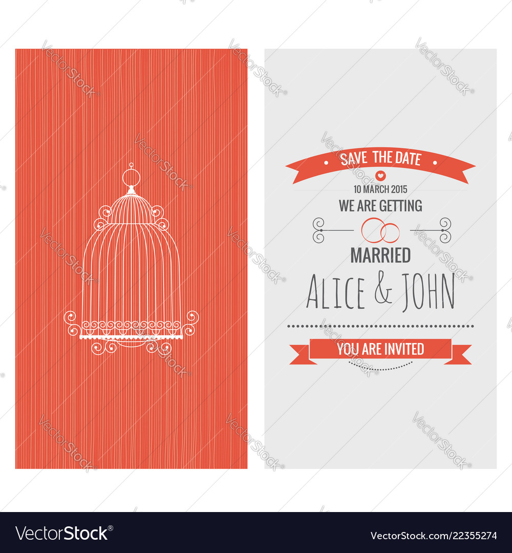 Wedding invitation card save the date