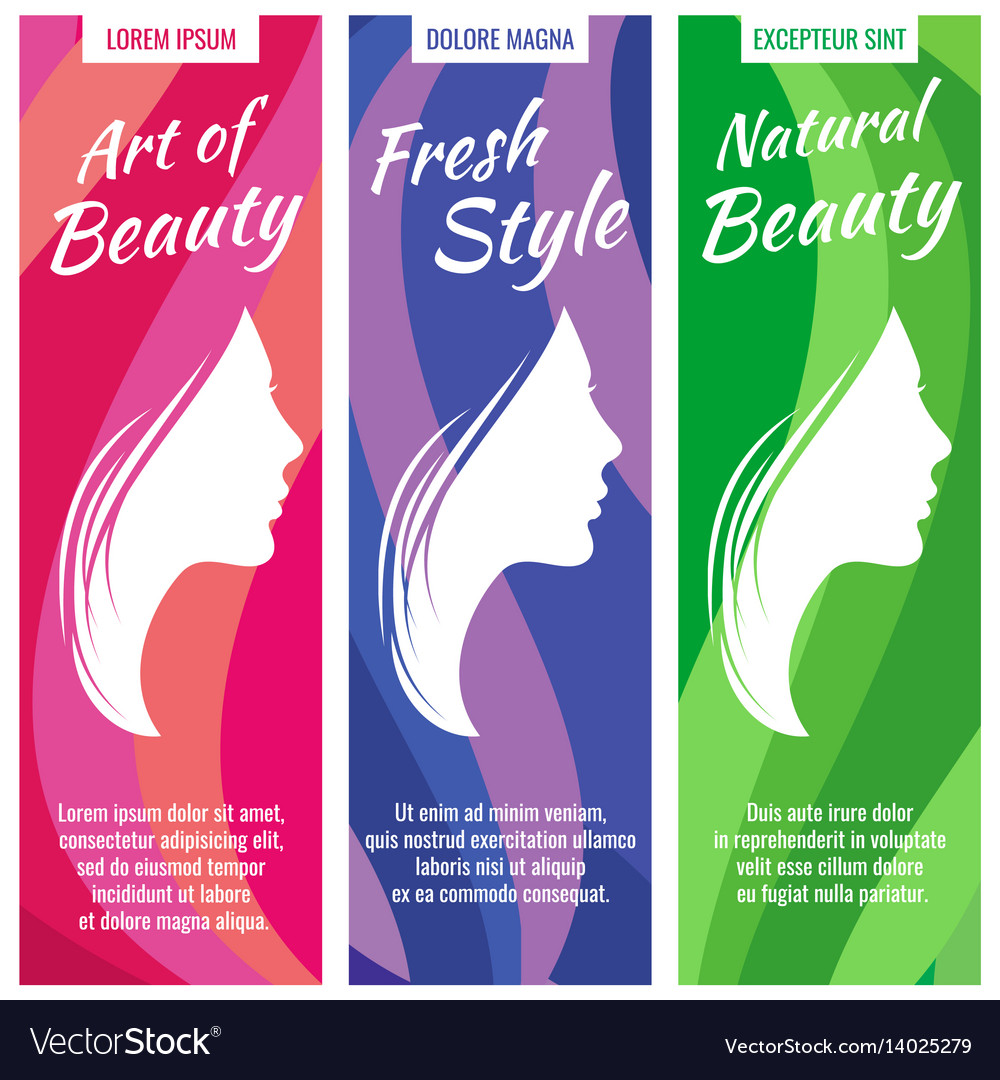 Abstract banners for beauty and cosmetic