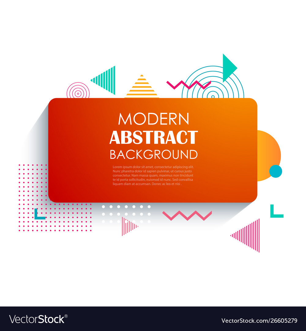 Abstract red rectangle geometric pattern design