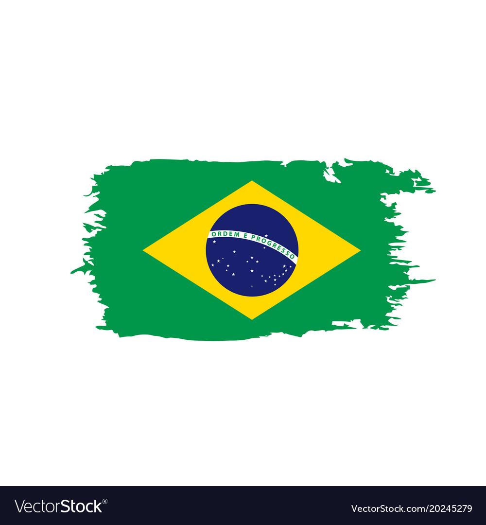brazil flag royalty free vector image vectorstock rh vectorstock com brazil flag vector free download brazil flag vector file free