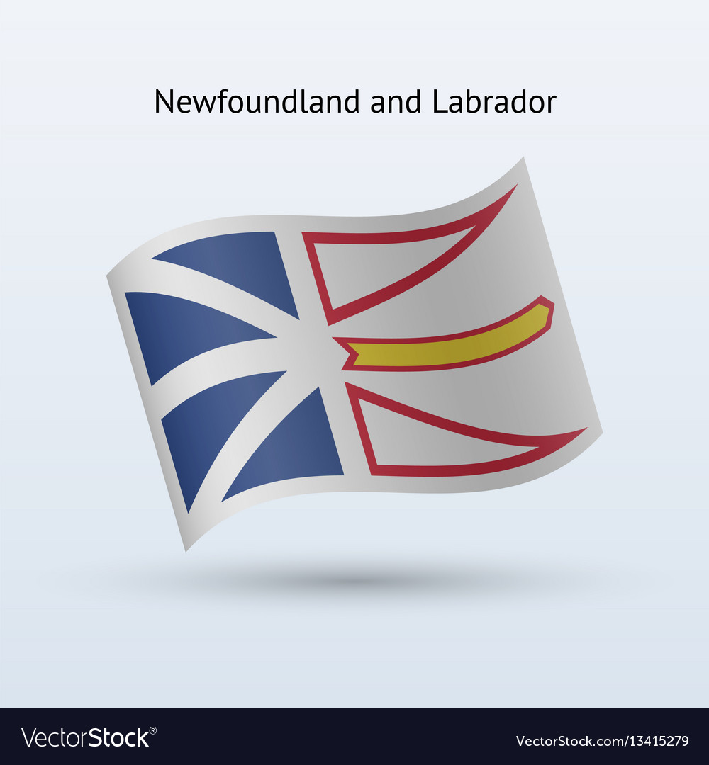 Canadian province of newfoundland and labrador vector image