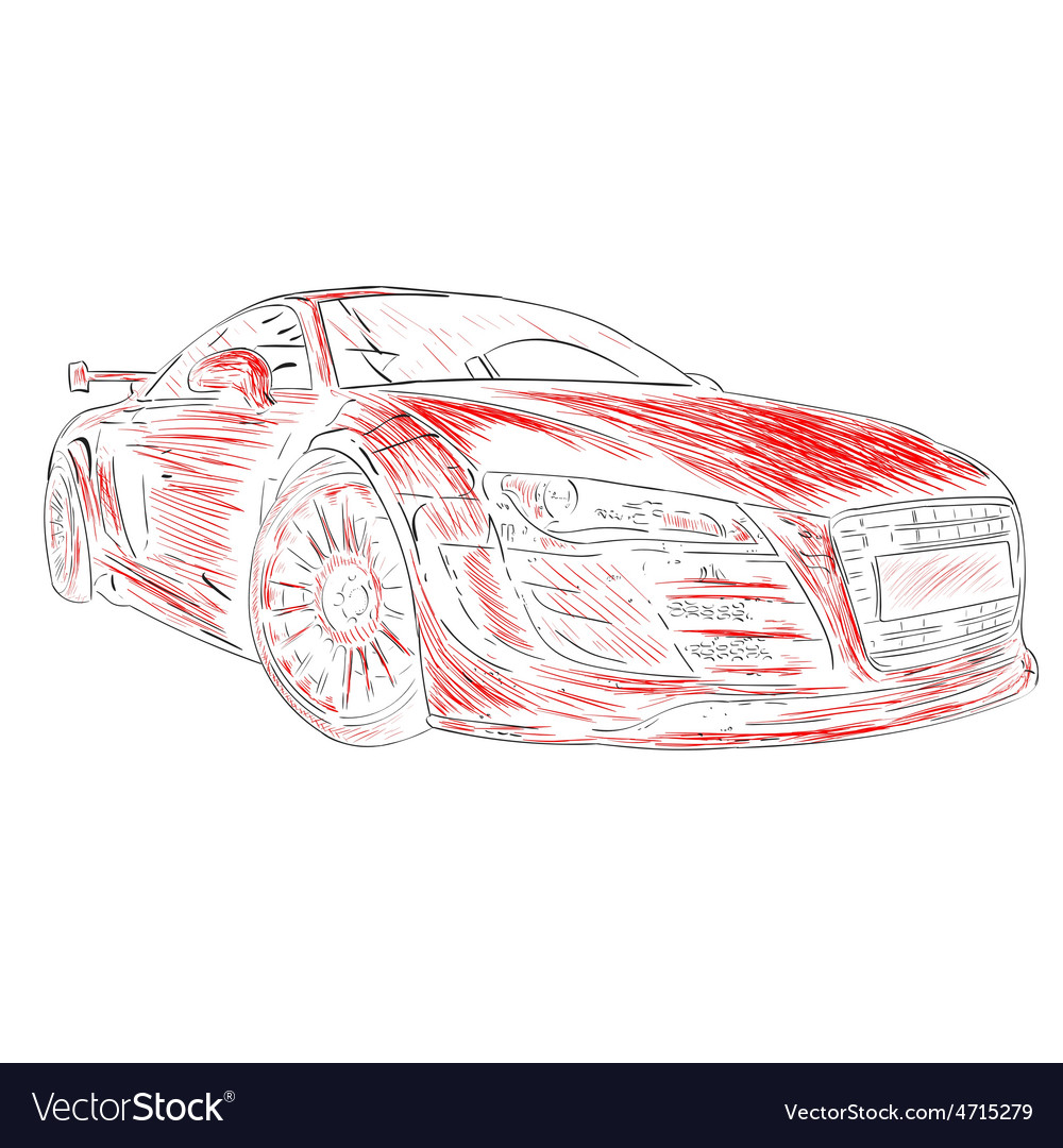 Chalk Car Design Red