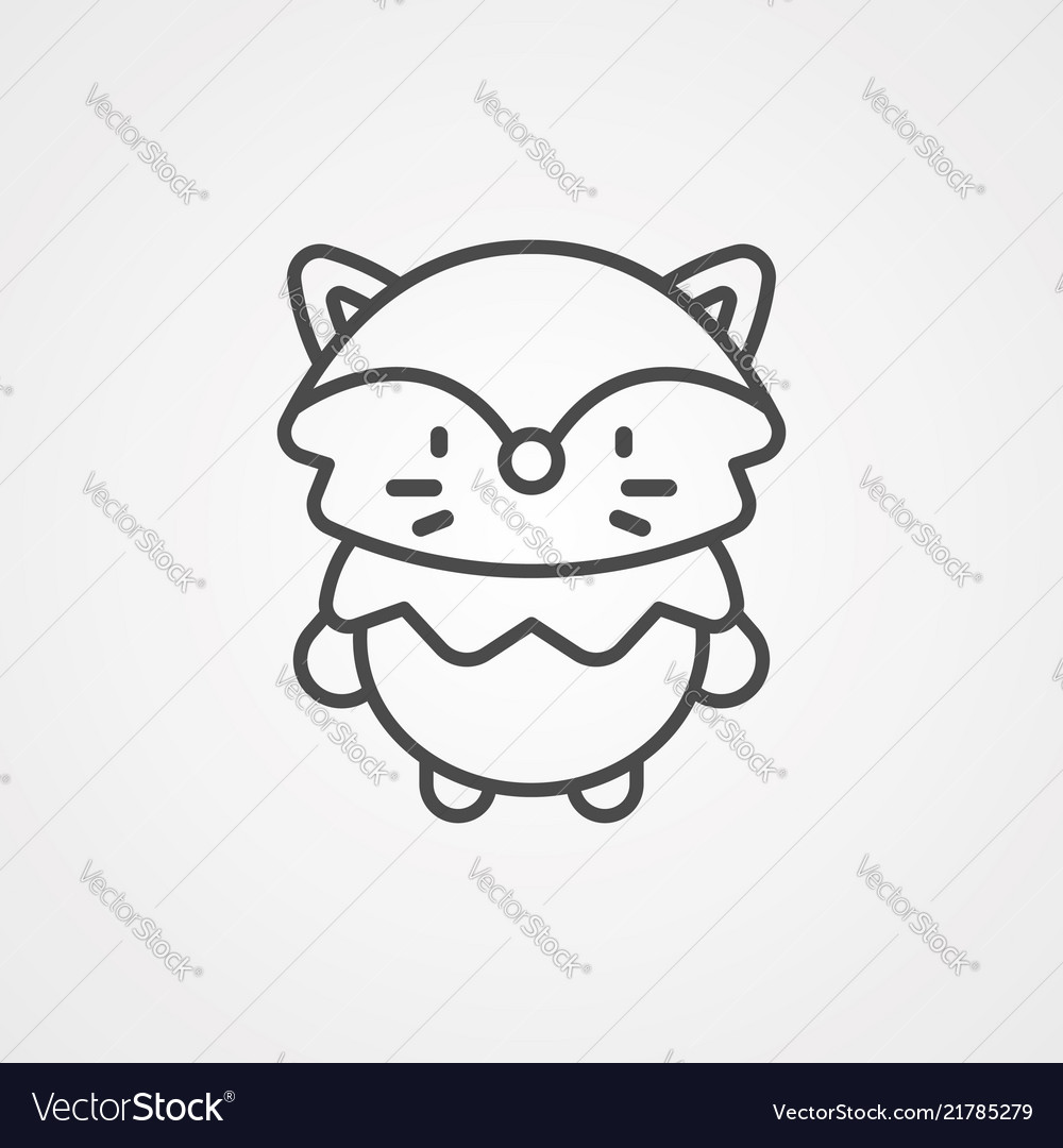 Fox icon sign symbol