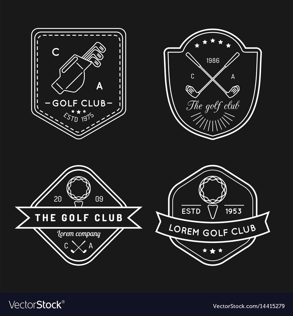 Golf logo set sports club linear