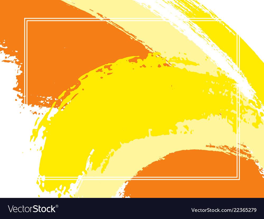 Horizontal Border With Brush Strokes Background