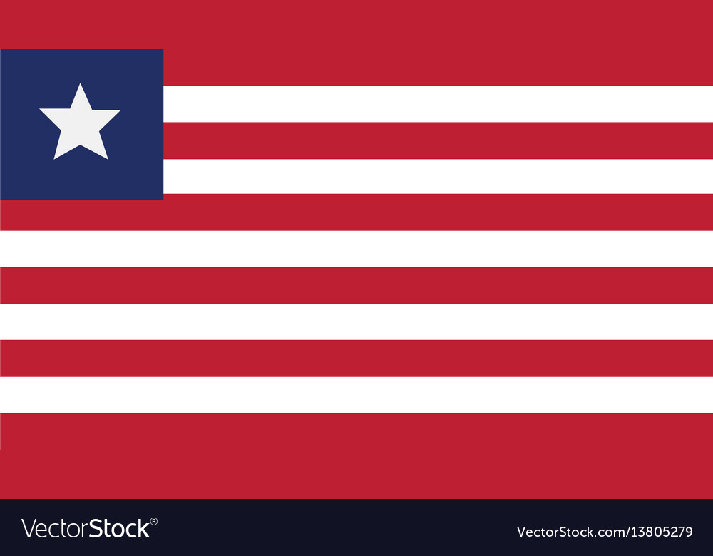 Liberia flag for independence day and infographic vector image