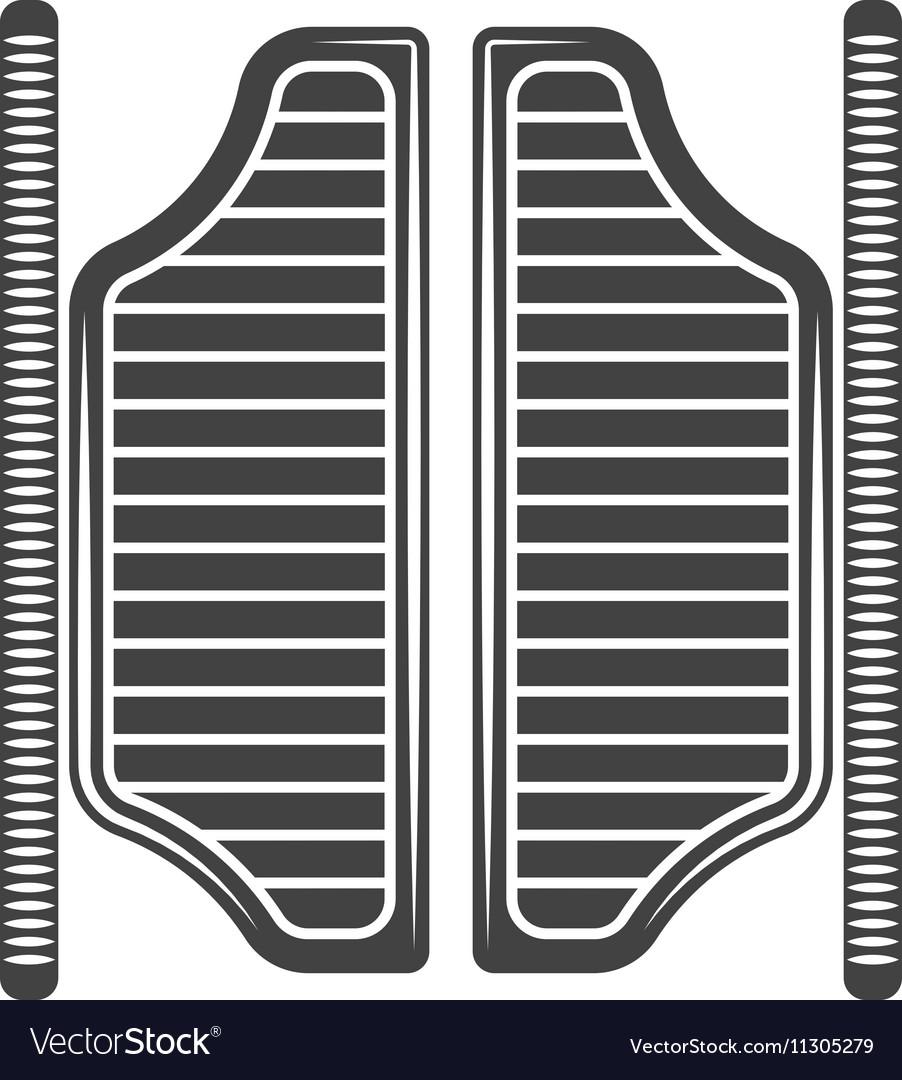 Retro old west saloon doors Black icon logo