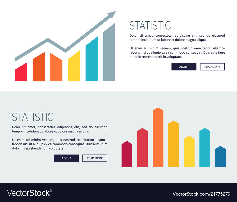 Statistic posters with growing financial