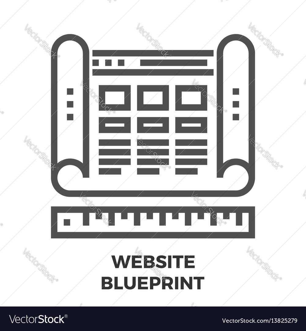Website blueprint line icon