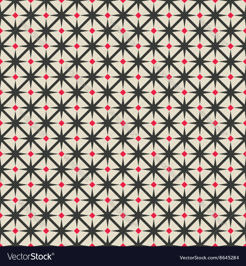 Black and red rhombus seamless geometric pattern