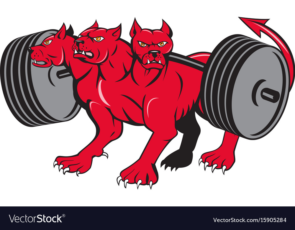 Cerberus multi-headed dog hellhound powerlifting