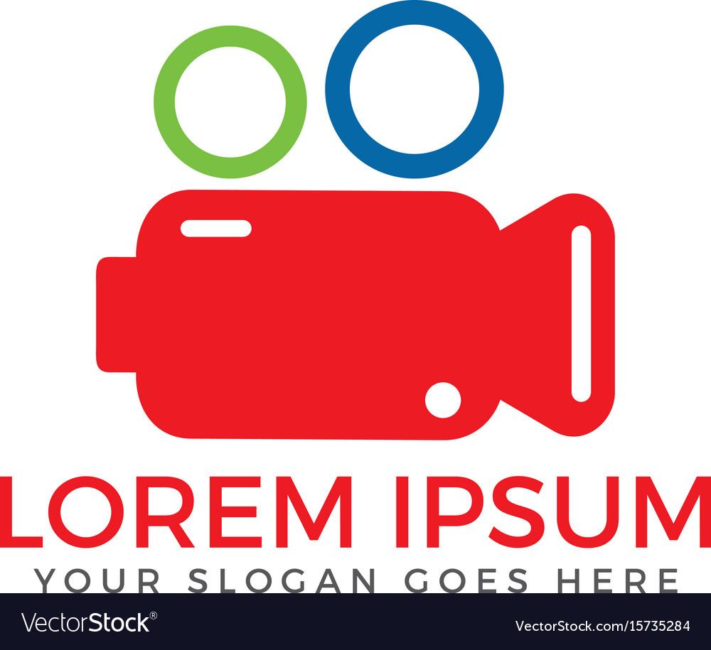 Cinema camera logo design template vector image
