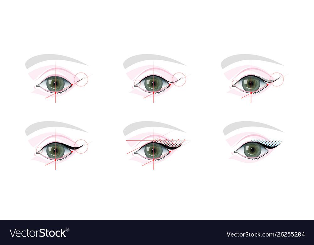 Eyes Permanent Tattoo Makeup Scheme
